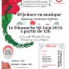Invitation au déjeuner en Musique le 2 juin 2019
