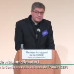 Réception du rapport de la Commission indépendante des abus sexuels dans l'Église : allocution de Mgr Éric de Moulins-Beaufort